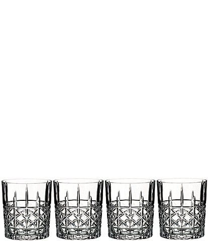 Marquis by Waterford 4-Piece Brady Crystal Double Old Fashioned Glass Set