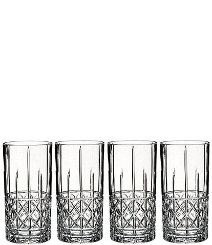 Marquis by Waterford 4-Piece Brady Crystal Highball Glass Set