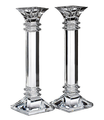 Marquis by Waterford Crystal #double;Treviso#double; Candlestick Pair