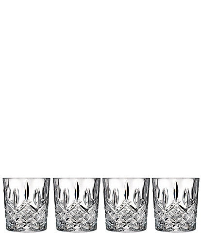 Marquis by Waterford Markham 4-Piece Traditional Crystal Double Old Fashioned Glass Set