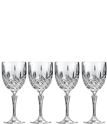 Marquis by Waterford Markham 4-Piece Goblet Traditional Crystal Wine Glass Set