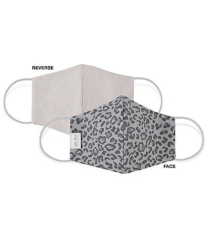 Martex OEKO-TEX & Triple-Layer with SILVERbac Antimicrobial Technology Grey Leopard Cloth Face Mask