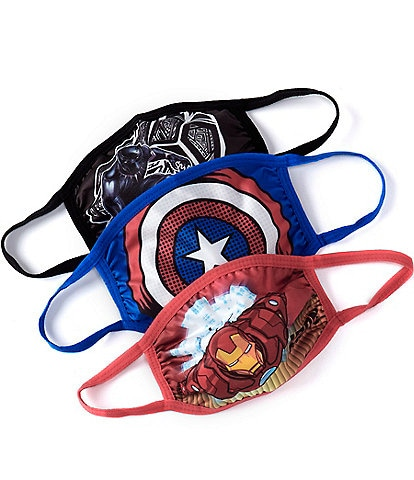 Marvel x Capelli New York Boys 3-Pack The Avengers Adjustable Cloth Face Masks