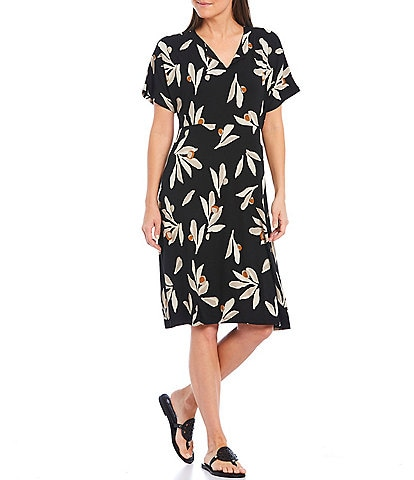 Masai Nebala V-Neck Short Sleeve Floral Dress