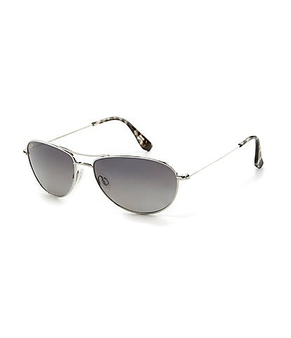 Maui Jim Baby Beach Polarized Titanium Aviator Sunglasses