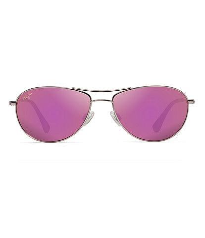 Maui Jim Baby Beach PolarizedPlus2® Aviator 56mm Sunglasses