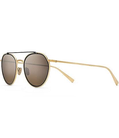 Maui Jim Bowline PolarizedPlus2® Round Fashion 53mm Sunglasses