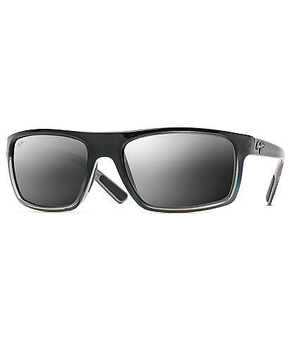 Maui Jim Byron Bay Mirrored PolarizedPlus2® Wrap 62mm Sunglasses
