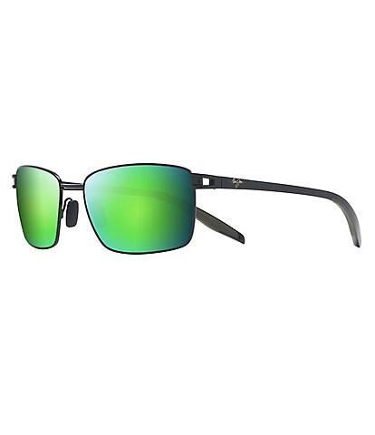 Maui Jim Cove Park PolarizedPlus2® Rectangular 60mm Sunglasses