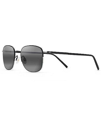 Maui Jim Crater Rim PolarizedPlus2® Square 52mm Sunglasses
