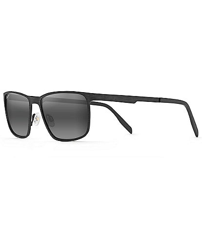 Maui Jim Cut Mountain Polarized Rectangular Sunglasses