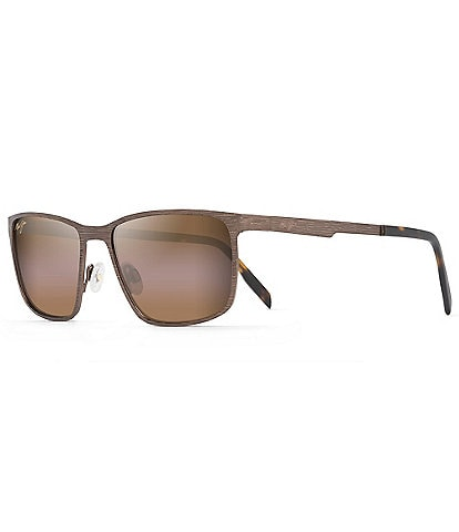 Maui Jim Cut Mountain PolarizedPlus2® Rectangular 55mm Sunglasses