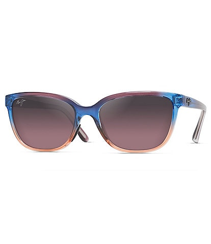 Maui Jim Honi Colorblocked Polarized Cat Eye Sunglasses