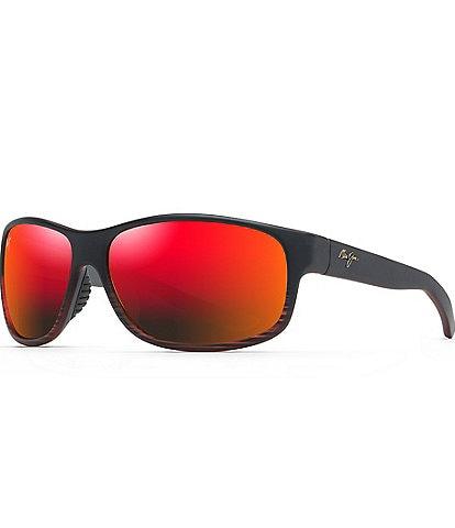 Maui Jim Kaiwi Channel PolarizedPlus2® Wrap 62mm Sunglasses
