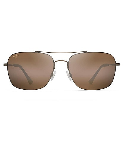 Maui Jim Lava Tube PolarizedPlus2® Aviator 57mm Sunglasses