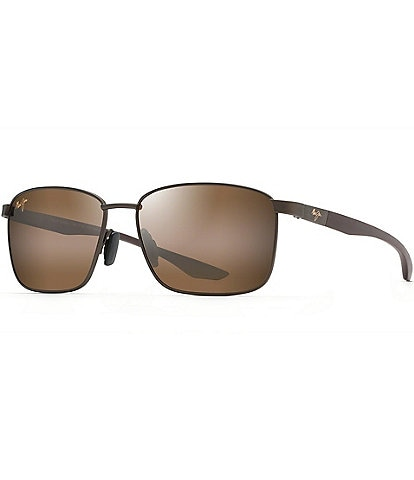 Maui Jim Men's Ka'ala PolarizedPlus2® Square 58mm Sunglasses