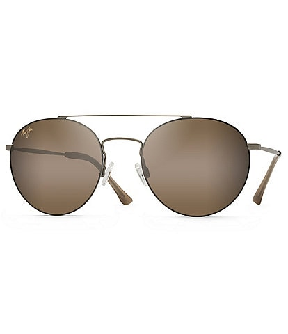 Maui Jim Pele's Hair PolarizedPlus2® Round Aviator 53mm Sunglasses