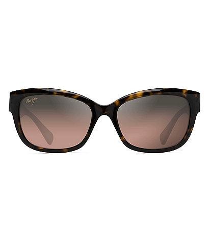 Maui Jim Plumeria Gradient Square Cat Eye Polarized Sunglasses