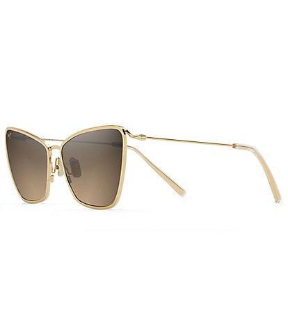 Maui Jim Puakenikeni PolarizedPlus2® Cat Eye 61mm Sunglasses