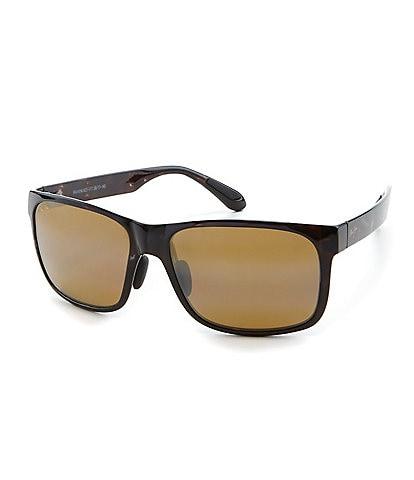 Maui Jim Red Sands PolarizedPlus2® Rectangular 59mm Sunglasses