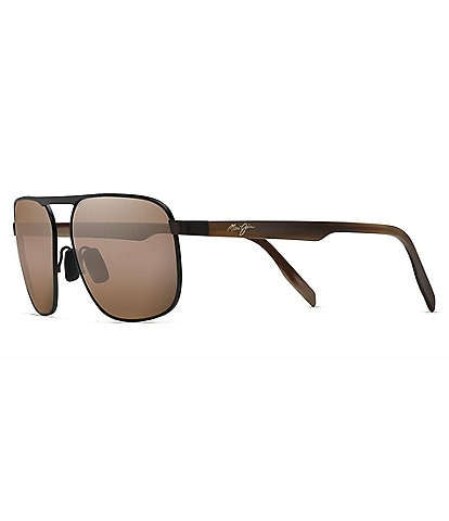 Maui Jim Waihee Ridge PolarizedPlus2® Aviator 60mm Sunglasses