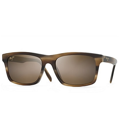 Maui Jim Waipio Valley PolarizedPlus2® Rectangular 56.5mm Sunglasses
