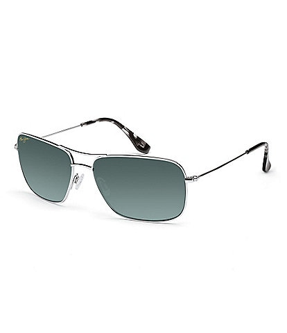 Maui Jim Wiki Wiki Double Bridge Silver Polarized Glare and UV Protection Sunglasses