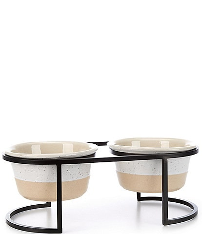 Max & Lou Pet Bowl with Stand