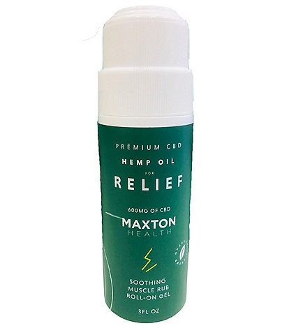 Maxton Health Premium CBD Hemp Oil for Relief Soothing Muscle Rub Roll-On