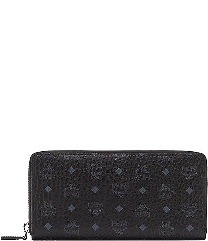 MCM Visetos Collection Large Zip Wallet