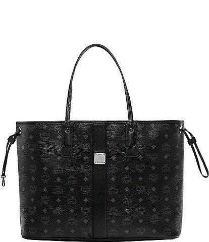 MCM Visetos Collection Liz Large Shopper Tote Bag