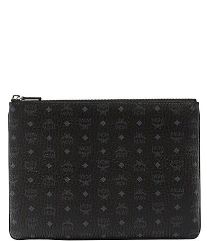 MCM Visetos Collection Medium Crossbody Pouch Bag