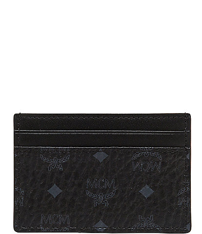 MCM Visetos Collection Mini Card Case