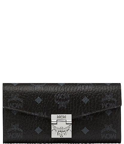 MCM Visetos Collection Patricia Large Crossbody Wallet