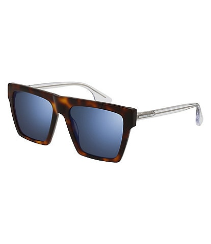 McQ Alexander McQueen Men's Silver Rectangular Sunglasses