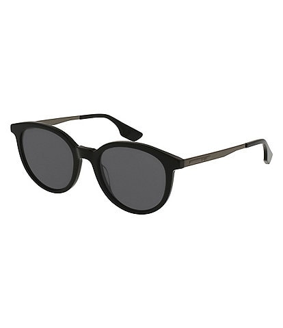 McQ by Alexander McQueen Pantos Rounded Grey Lens Sunglasses