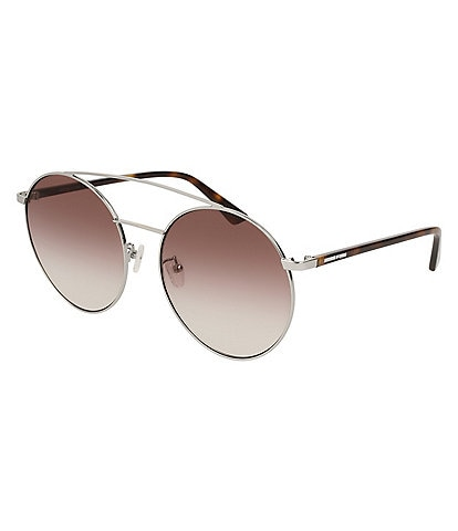 McQ by Alexander McQueen Women's Over-Sized Round Sunglasses