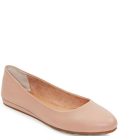 Me Too Alina Leather Wedge Ballet Flats