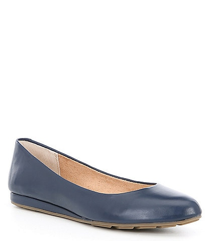 Me Too Alina Leather Wedge Ballet Flat