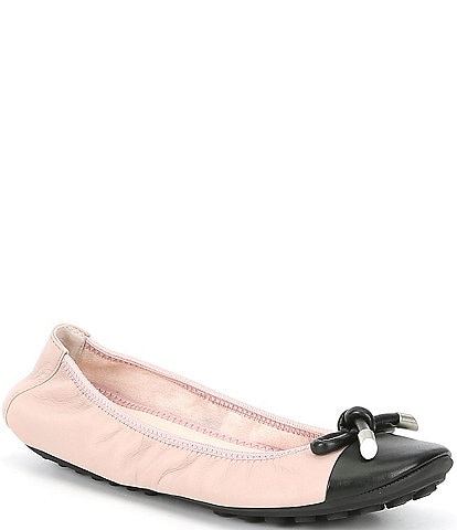Me Too Lennox Leather Bow Detail Ballet Flats