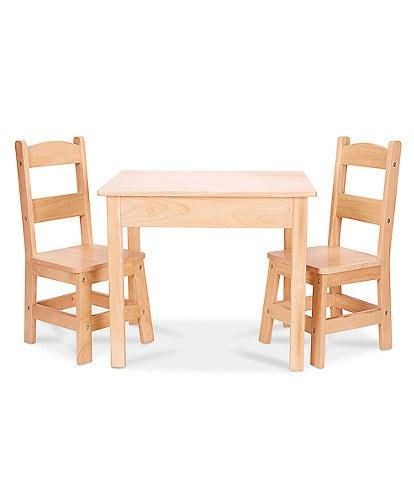 Melissa & Doug Child-Size Hardwood Table & 2 Chairs Set
