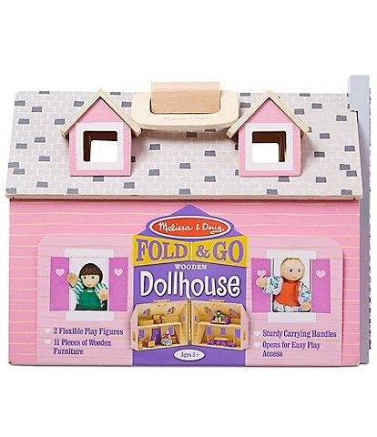 Melissa & Doug Fold & Go Mini Dollhouse Playset