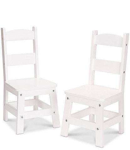 Melissa & Doug Kids 2 Child-Size Hardwood Chairs