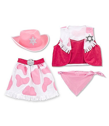 Melissa & Doug Kids Cowgirl Role Play Costume Set