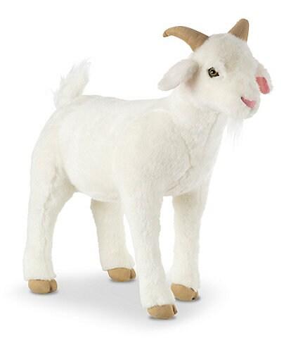 Melissa & Doug 22.5#double; Lifelike Plush Goat