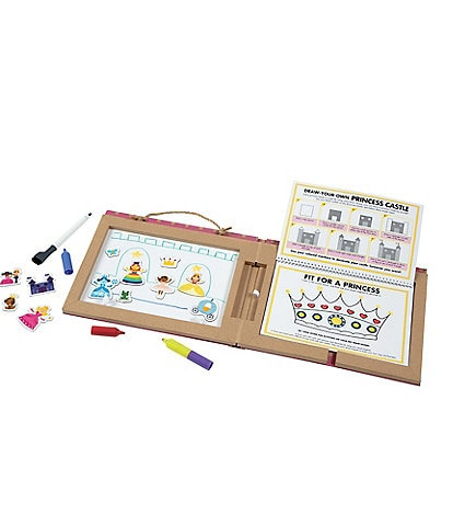 Melissa & Doug Play Draw Create Dry-Erase Princesses Activity Book