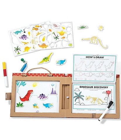 Melissa & Doug Play, Draw, Create Reusable Drawing & Magnet Kit - Dinosaurs