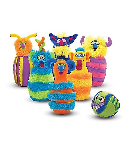 Melissa & Doug 7#double; Plush Monster Bowling Game
