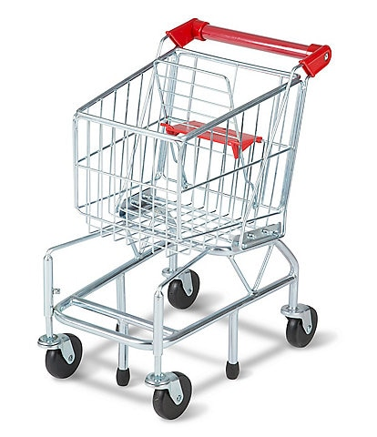 Melissa & Doug Shopping Cart Toy - Metal Grocery Cart Wagon