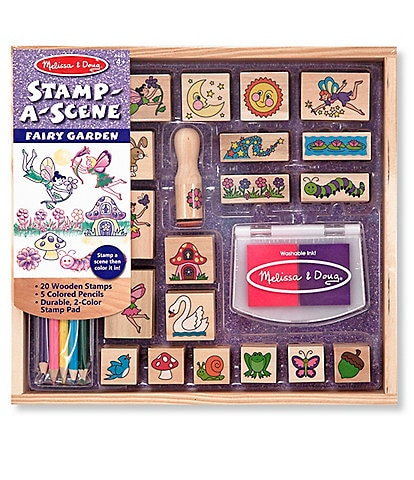 Melissa & Doug Stamp-a-Scene Fairy Garden Set